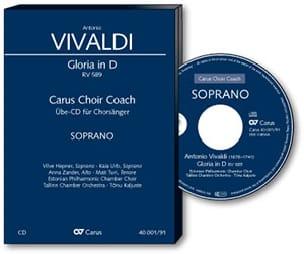 Gloria RV 589. CD. Alto - VIVALDI - Partition - laflutedepan.com