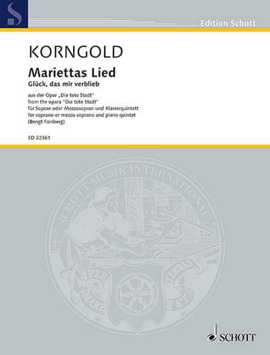Mariettas Lied op. 12 - KORNGOLD - Partition - laflutedepan.com