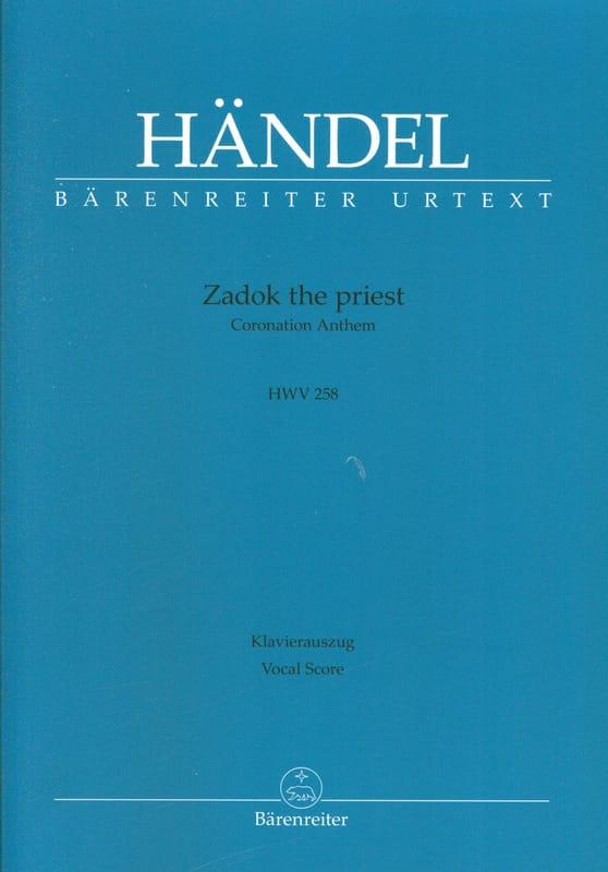 Zadok the Priest - HAENDEL - Partition - Chœur - laflutedepan.com