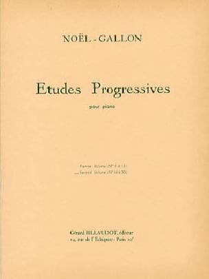 Etudes Progressives Volume 2 - Noël-Gallon - laflutedepan.com