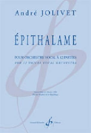 Epithalame Pour Orchestre Vocal A 12 Parties - laflutedepan.com