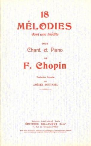 18 Mélodies - CHOPIN - Partition - Mélodies - laflutedepan.com