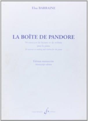 Elsa Barraine - Pandora's box - Partition - di-arezzo.com