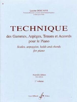 Lucette Descaves - Range and Arpeggio Technique - Volume 1 - Partition - di-arezzo.co.uk
