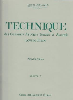Lucette Descaves - Technical - Volume 2 - Partition - di-arezzo.co.uk