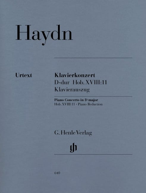 HAYDN - Concerto for piano in D major Hob 18-11 - Partition - di-arezzo.co.uk