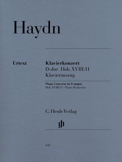 HAYDN - Concerto for piano in D major Hob 18-11 - Partition - di-arezzo.com