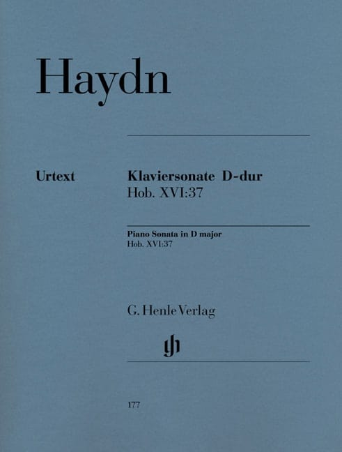 HAYDN - Sonata For Piano D Major Hob 16-37 - Partition - di-arezzo.co.uk