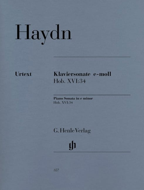 HAYDN - Sonata For Piano In E Minor Hob 16-34 - Partition - di-arezzo.co.uk