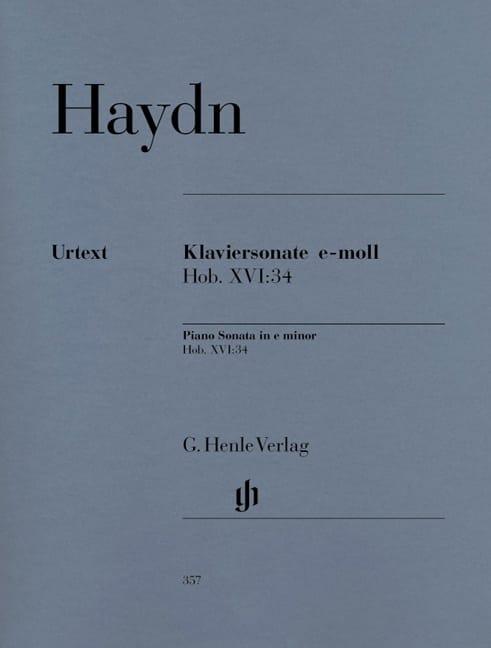 HAYDN - Sonata For Piano In E Minor Hob 16-34 - Partition - di-arezzo.com