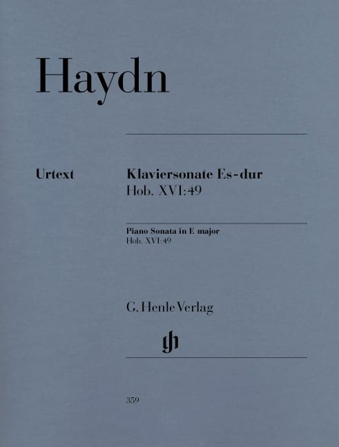 HAYDN - Sonata For Piano In E Flat Major Hob. 16-49 - Partition - di-arezzo.co.uk