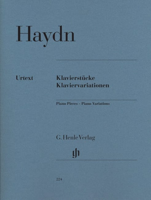 HAYDN - Klavierstücke. Klaviervariationen - Partition - di-arezzo.co.uk
