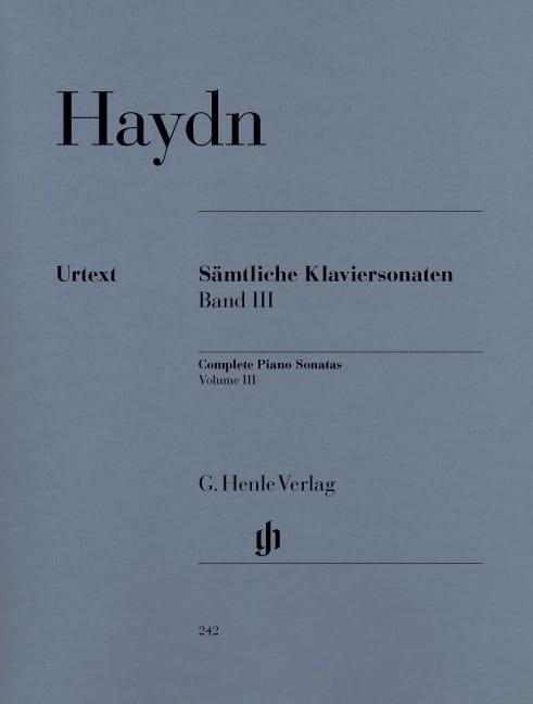 HAYDN - Complete Sonatas Volume 3 - Partition - di-arezzo.co.uk