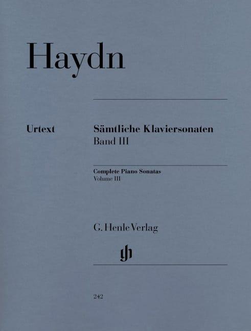 HAYDN - Complete Sonatas Volume 3 - Partition - di-arezzo.com