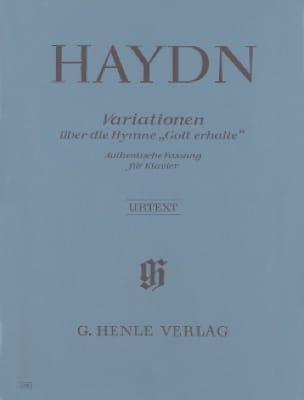 Variations sur l' Hymne Gott Erhalte Aus Dem Kaiserquartett Hob 3-77. - laflutedepan.com
