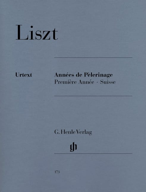 Franz Liszt - Years of Pilgrimage - 1st year Switzerland - Partition - di-arezzo.co.uk