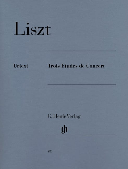 Franz Liszt - Three Concert Studies - Partition - di-arezzo.com