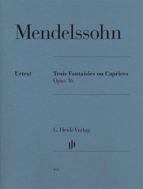 MENDELSSOHN - 3 Fantasies or Caprices Opus 16 - Partition - di-arezzo.com