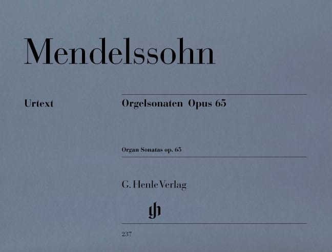 MENDELSSOHN - Sonatas For Organ Opus 65 - Partition - di-arezzo.com
