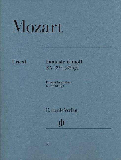 MOZART - Fantasy In D Minor K 397 385g - Partition - di-arezzo.co.uk