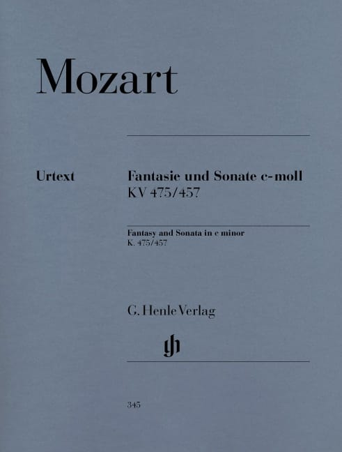 MOZART - Fantasía y Sonata Do Minor K 475 y 457 - Partition - di-arezzo.es