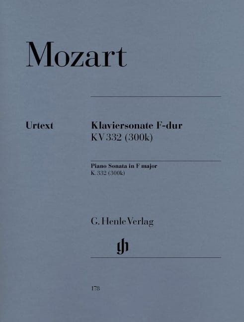 MOZART - Sonata para piano en fa mayor K. 332 300k - Partition - di-arezzo.es
