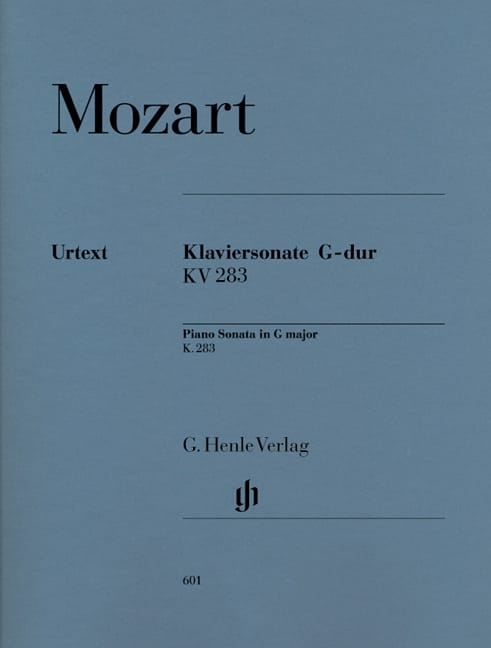MOZART - Sonate pour piano en Sol majeur K. 283 189h - Partition - di-arezzo.fr