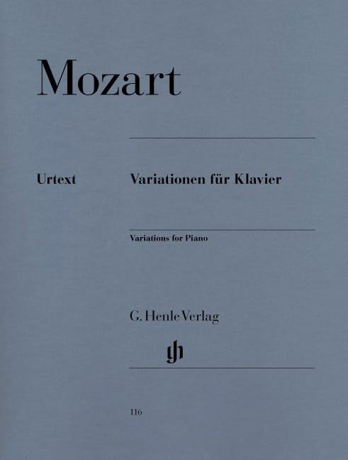 Variations Pour Piano - MOZART - Partition - Piano - laflutedepan.com