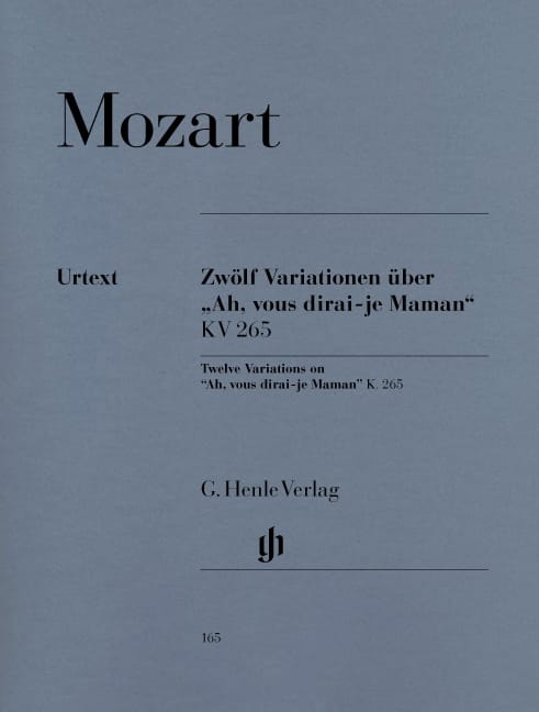 MOZART - 12 Variations on Ah, will you tell me, Mom K 265 300th - Partition - di-arezzo.co.uk