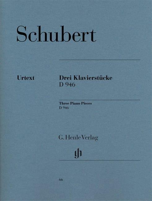 SCHUBERT - 3 Klavierstücke D 946 Aus Dem Nachlass - Partition - di-arezzo.co.uk