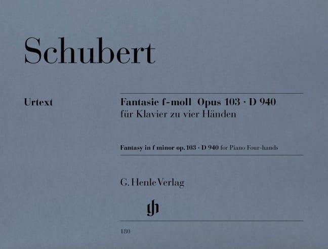 SCHUBERT - Fantasía en fa menor - Partition - di-arezzo.es