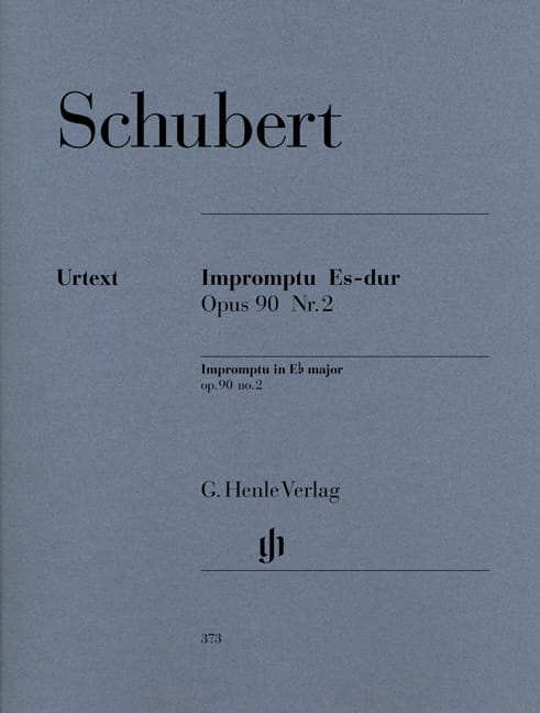 SCHUBERT - Impromptu in E flat major Opus 90-2 D 899 - Partition - di-arezzo.co.uk
