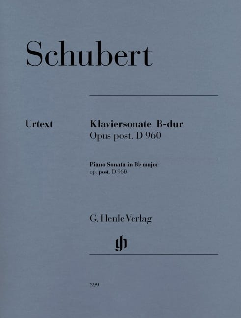 SCHUBERT - Piano Sonata B plana mayor D 960 - Partition - di-arezzo.es