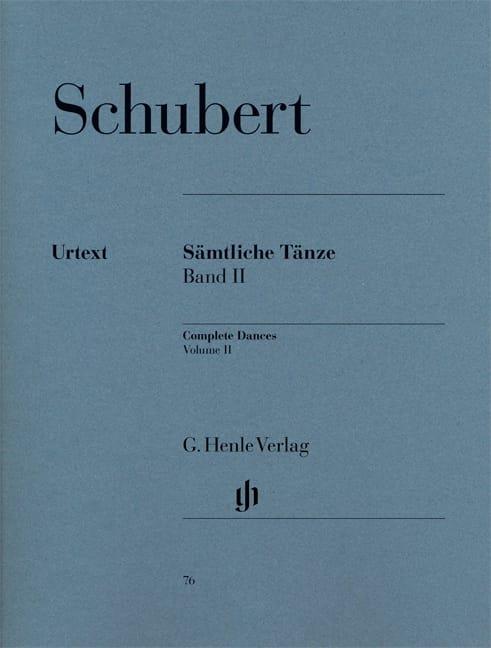 Sämtliche Tänze. Volume 2 - SCHUBERT - Partition - laflutedepan.com