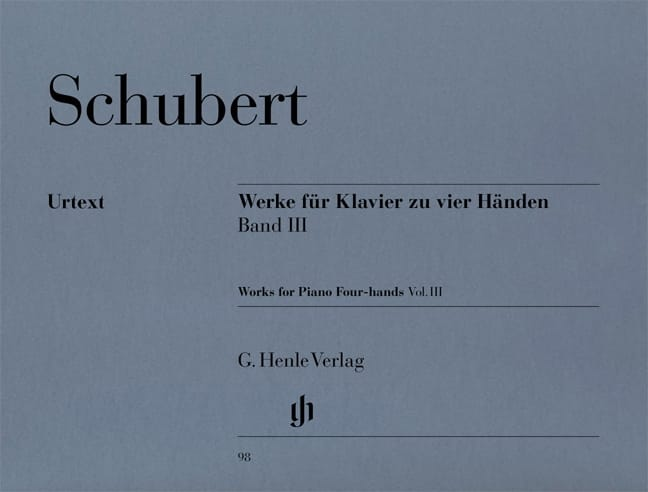 SCHUBERT - Works for Piano 4 Hands Volume 3 - Partition - di-arezzo.co.uk