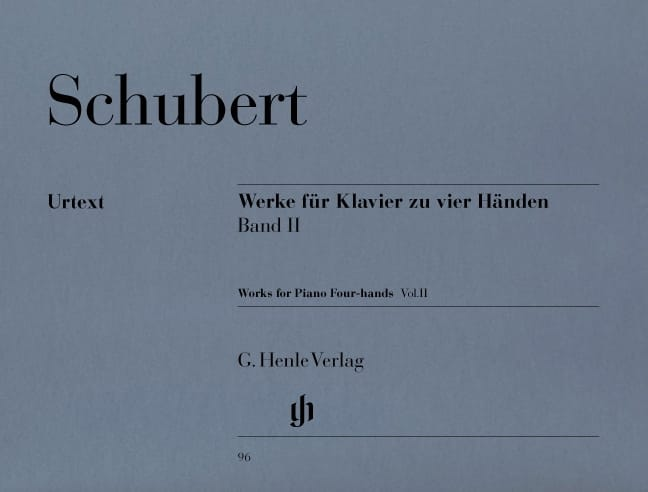 SCHUBERT - Works for Piano 4 hands Volume 2 - Partition - di-arezzo.co.uk
