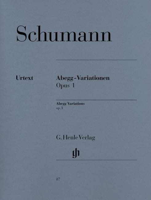SCHUMANN - Abegg-Variationen Opus 1 - Partition - di-arezzo.co.uk