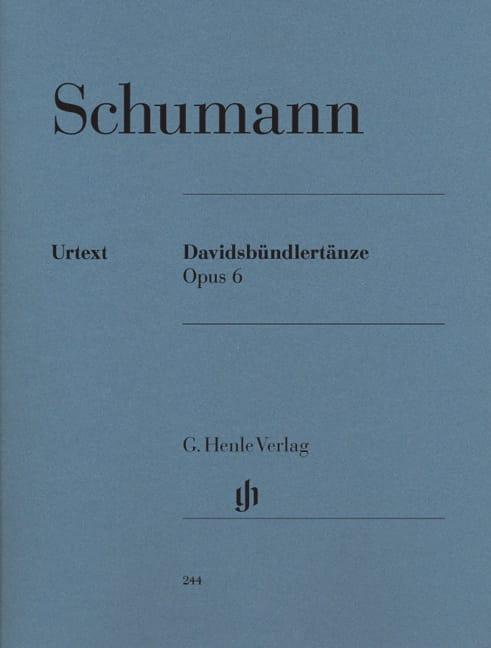 SCHUMANN - Davidsbündlertänze Opus 6 - Partition - di-arezzo.co.uk