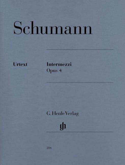 SCHUMANN - Intermezzi Opus 4 - Partition - di-arezzo.co.uk
