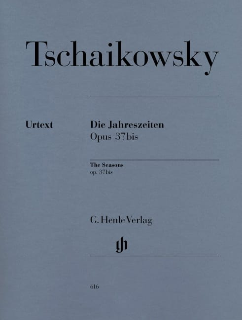 TCHAIKOWSKY - The seasons Opus 37bis - Partition - di-arezzo.co.uk