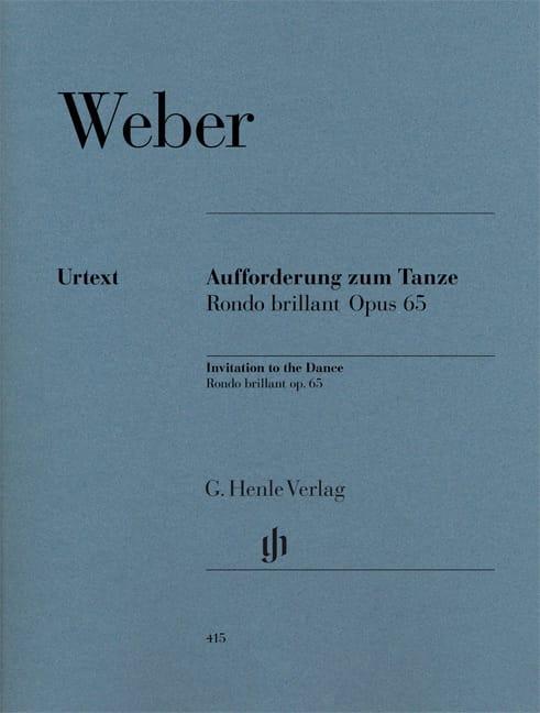 Carl Maria von Weber - The Invitation to Dance - Rondo Brillant in E flat major, Opus 65 - Partition - di-arezzo.co.uk