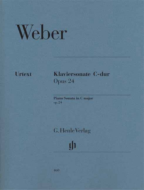 Carl Maria von Weber - Piano Sonata in C Major Opus 24 - Partition - di-arezzo.co.uk