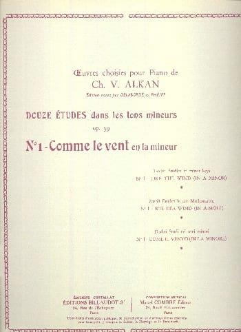 Comme le Vent En la Mineur Op. 39-1 - ALKAN - laflutedepan.com