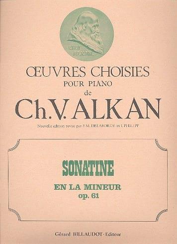 Sonatine En la Mineur Opus 61 - ALKAN - Partition - laflutedepan.com