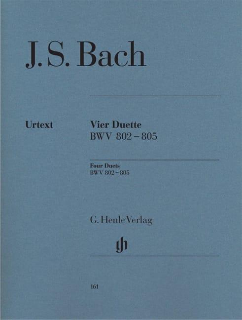 4 Duette. BWV 802-805 - BACH - Partition - Piano - laflutedepan.com