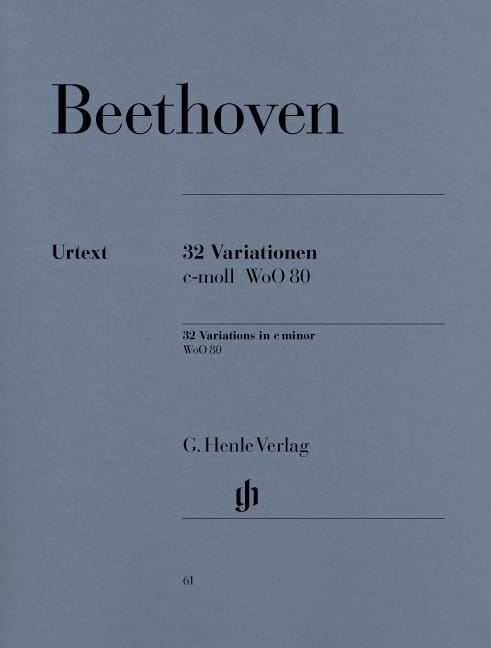 BEETHOVEN - 32 WoO 80 Variations - Partition - di-arezzo.co.uk