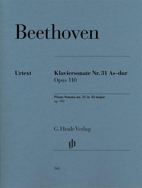 BEETHOVEN - Piano Sonata No. 31 in A flat major Opus 110 - Partition - di-arezzo.co.uk