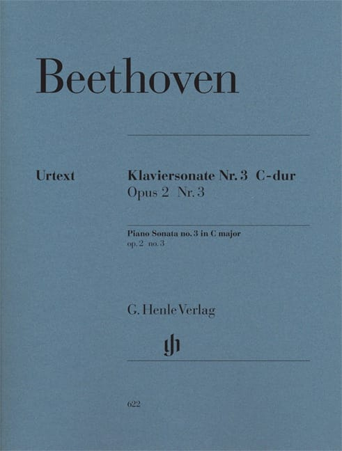 BEETHOVEN - Piano Sonata No. 3 in C major Opus 2-3 - Partition - di-arezzo.co.uk