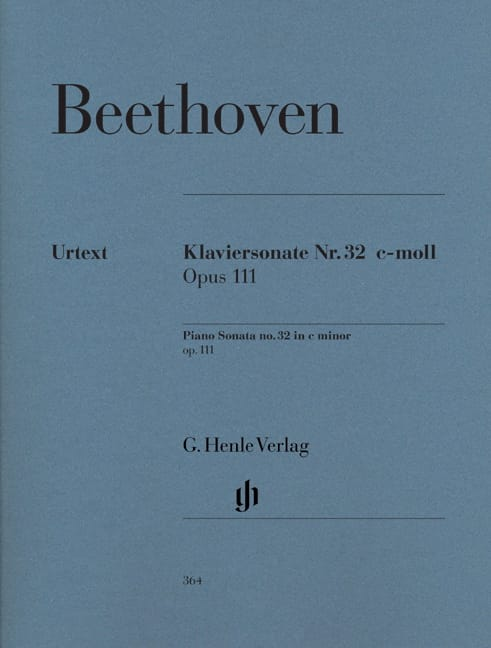 BEETHOVEN - Piano Sonata No. 32 in C minor Opus 111 - Partition - di-arezzo.co.uk