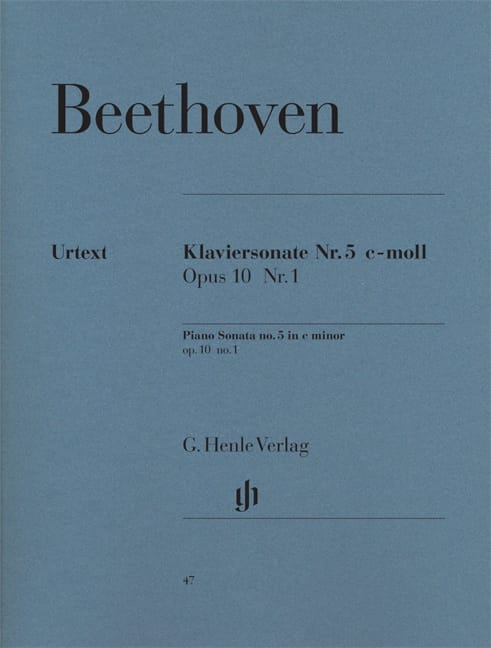 BEETHOVEN - Piano Sonata No. 5 C minor Opus 10 No. 1 - Partition - di-arezzo.co.uk